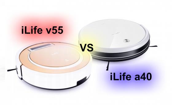 Сравнение пылесосов: iLife v55 VS iLife a40