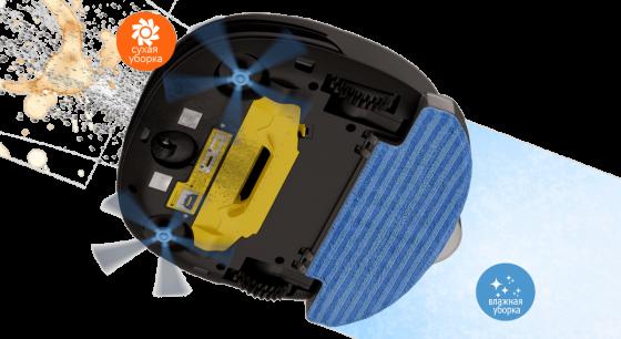 принцип влажной уборки роботом-пылесосом