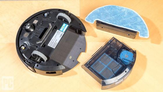 робот-пылесос iLife, салфетка и резервуар дял влажной уборки